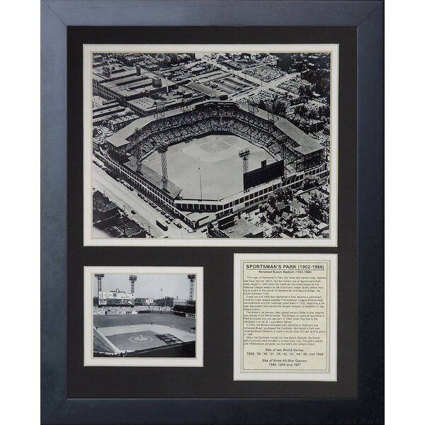 St. Louis Cardinals - Sportsman Park Framed Memorabili by Legends Never Die