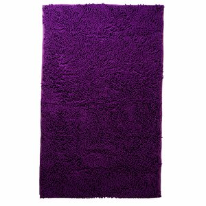 Atre High Pile Shag Accent Purple Area Rug