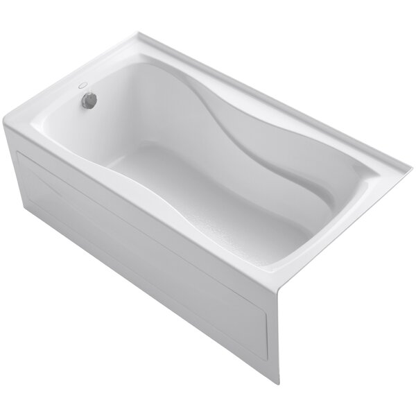 Hourglass Alcove Bath with Integral Apron and Tile Flange and Left-Hand Drain by Kohler