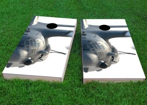 Face of AC130 Cornhole Game (Set of 2) by Custom Cornhole Boards
