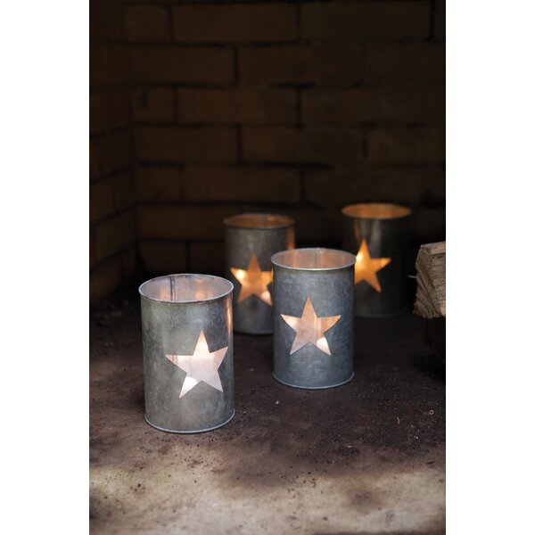 Tin Star Luminary (Set of 4) by The Holiday Aisle