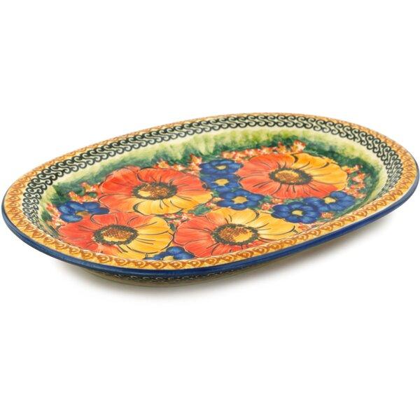 Bright Beauty Oval Platter by Polmedia