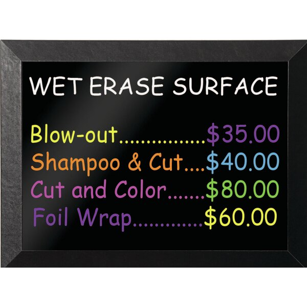 Kamashi Wet-Erase Wall Mounted Chalkboard by Maste