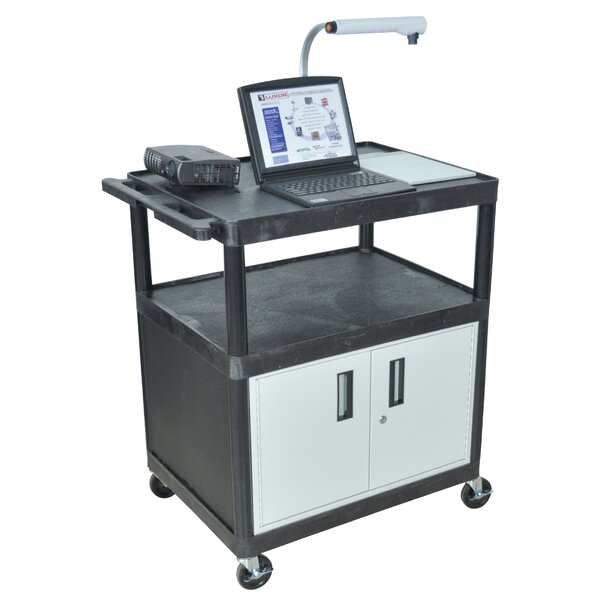 LP Carts Series AV Cart with Locking Cabinet/Electric by Luxor