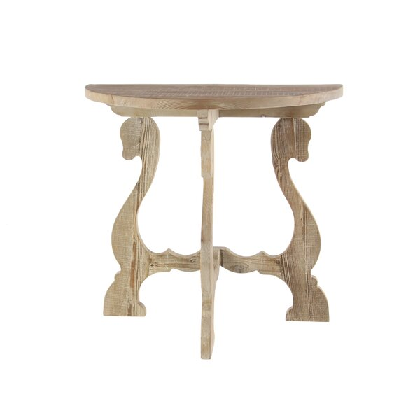 Francoise Traditional Demilune Wood End Table by One Allium Way