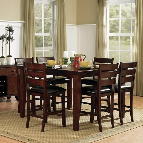 Leonetti 7 Piece Extendable Solid Wood Dining Set by Millwood Pines