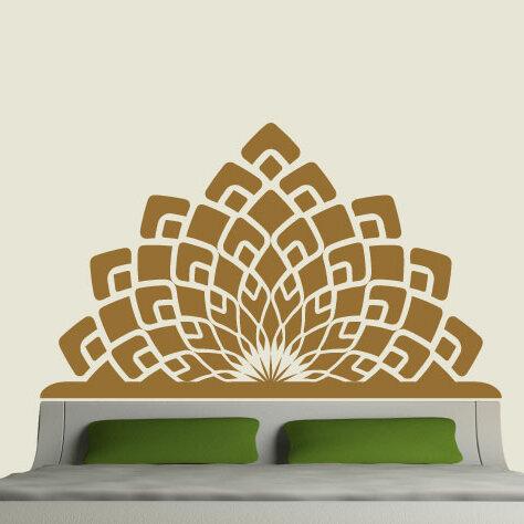 eyvaldecal modern headboard vinyl wall decal | wayfair