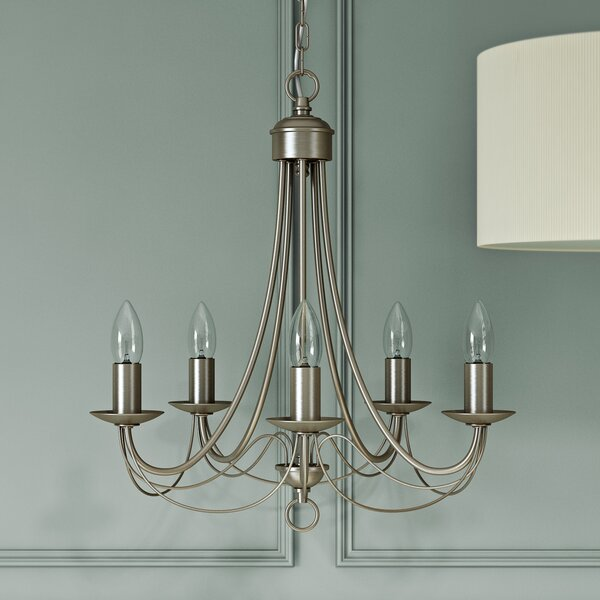 Searchlight Maypole 5 Light Candle Style Chandelier