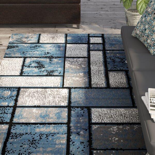 Giuliana Dusty Brick Light Blue/Gray Area Rug by Zipcode Design