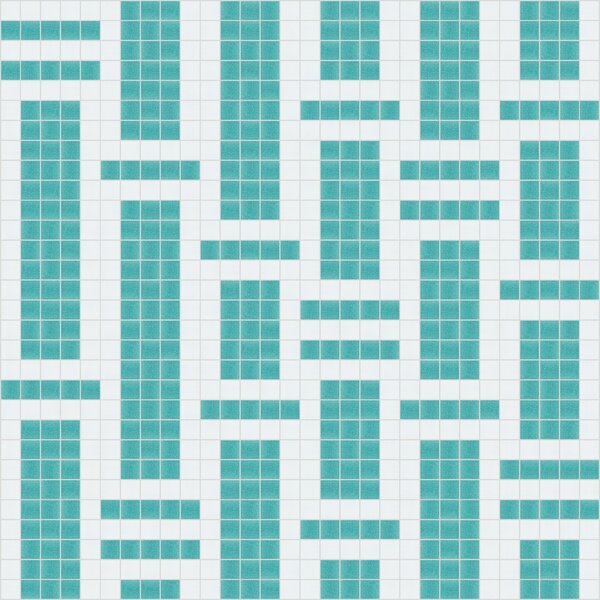 Urban Essentials Modern Bamboo 3/4 x 3/4 Glass Glossy Mosaic in Deep Teal by Mosaic Loft