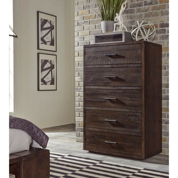 Bowker Slated Wood 5 Drawer Chest by Foundry Select