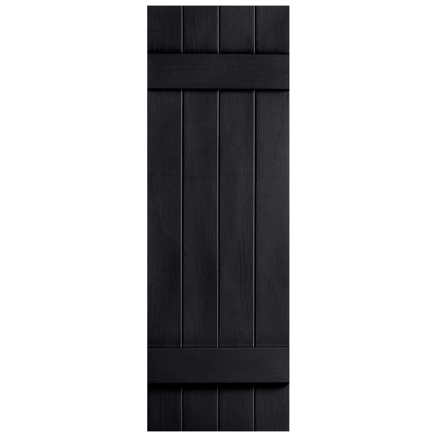 Alpha Shutters Exterior Vinyl 4 Board N Batten Closed Shutter & Reviews