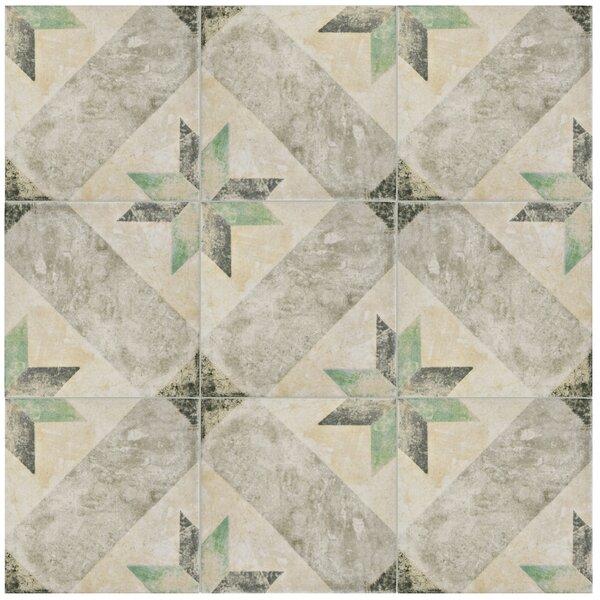 Herculanea 9.75 x 9.75 Porcelain Field Tile in Beige/Gray by EliteTile