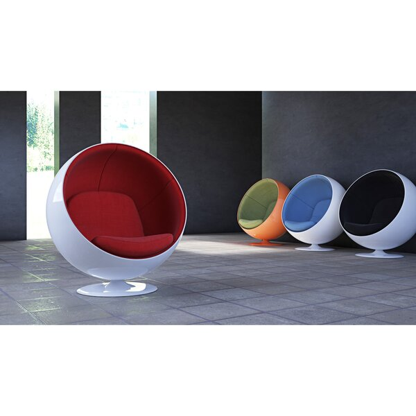 Samira Swivel Balloon Chair by Orren Ellis