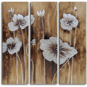 3 Piece Painting Wrapped Canvas Set by Darby Home Co