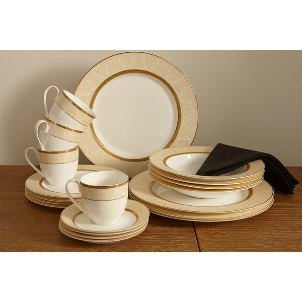 forest Bone China 20 Piece Dinnerware Set, Service for 4 by Flato Home Products