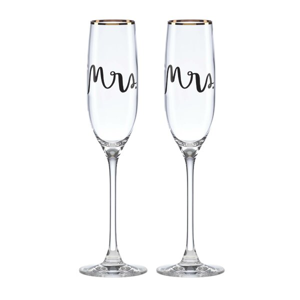 Bridal Party Mrs. & Mrs. Flute Pair (Set of 2) by kate spade new york