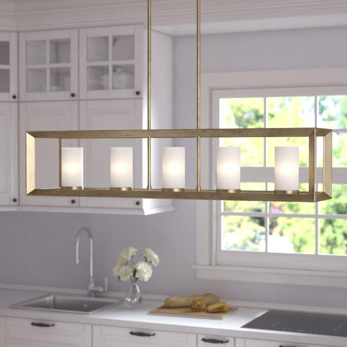 Thorne 5 - Light Kitchen Island Linear Pendant