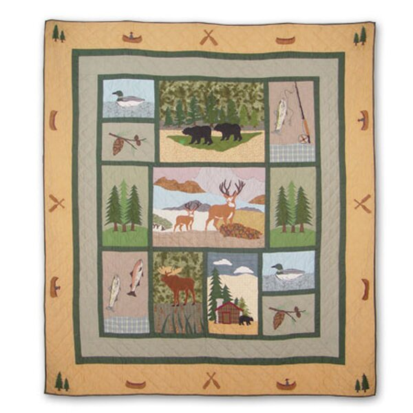 Lodge Fever Single Reversible Quilt