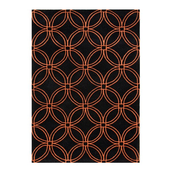 Alliyah Black/Orange Area Rug by James Bond