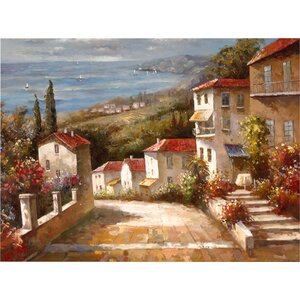 Home in Tuscany' Painting Print on Wrapped Canvas by Charlton Home