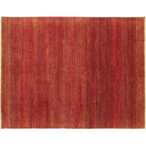 One-of-a-Kind Lona Hand-Knotted Rectangle Rust Area Rug by Isabelline
