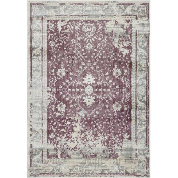 Eklund Champagne/Rose Cream Area Rug by Charlton Home
