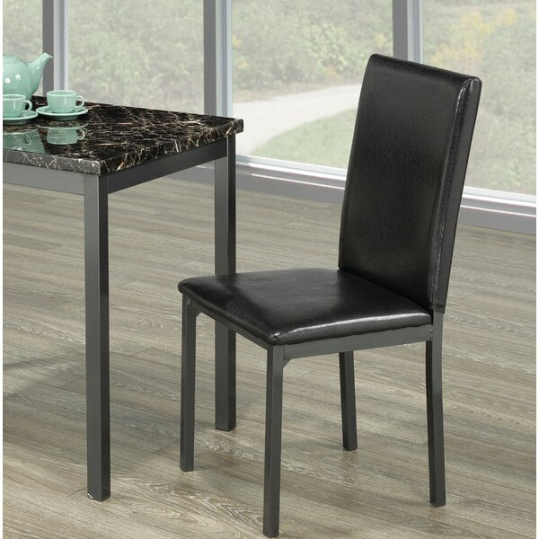 Americus Upholstered Dining Chair In Black By Winston Porter