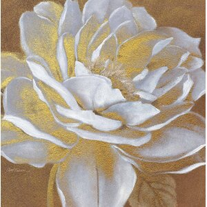 'Golden Flower I' Painting Print on Canvas by Courtside Market
