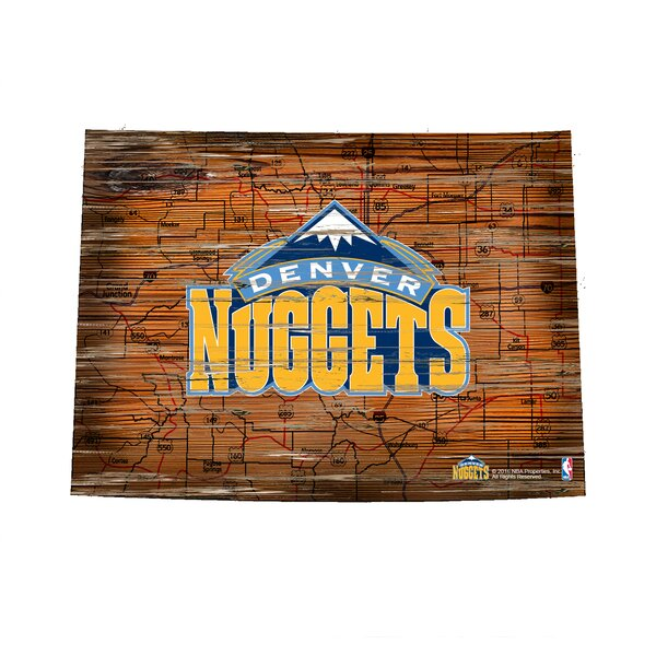 NBA Nuggets Distressed State Wall Décor by Fan Creations