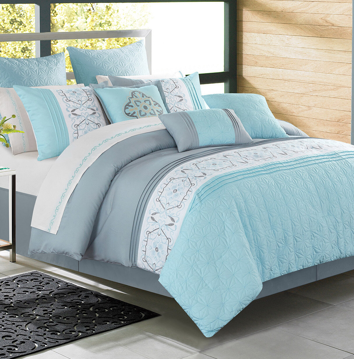 Red Barrel Studio Enright Alysha Blue Comforter Set Reviews Wayfair