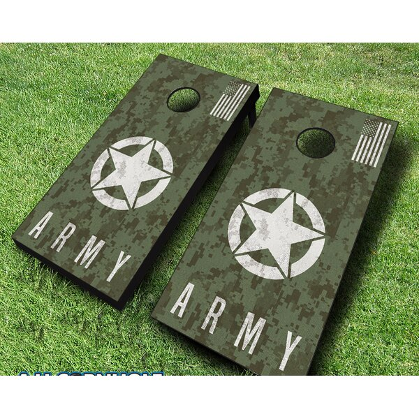 10 Piece US Army Digital Camo Cornhole Set by AJJ Cornhole