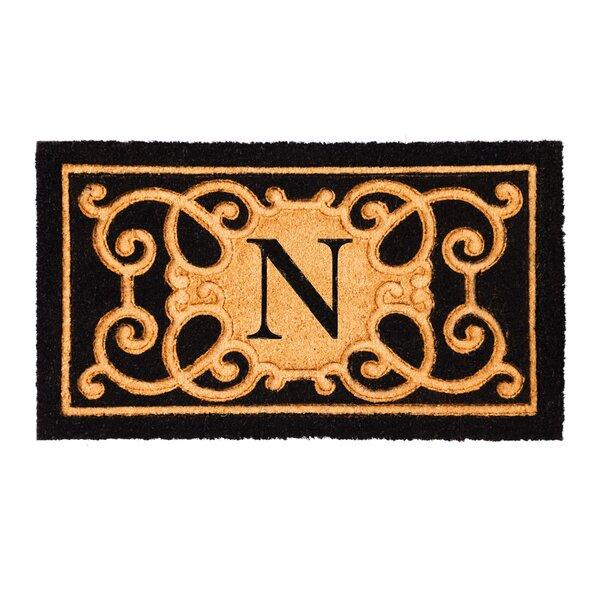 Columbard Debossed Monogram Coir Doormat by Charlton Home