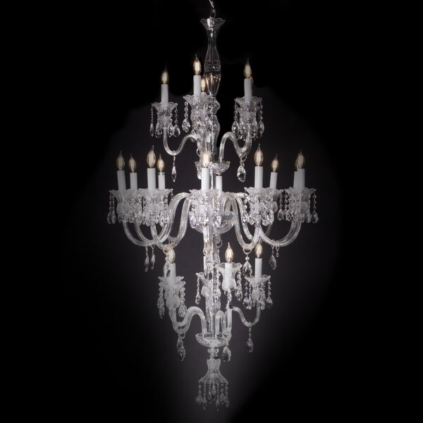 Rodolfo 20-Light Candle Style Tiered Chandelier by Astoria Grand Astoria Grand