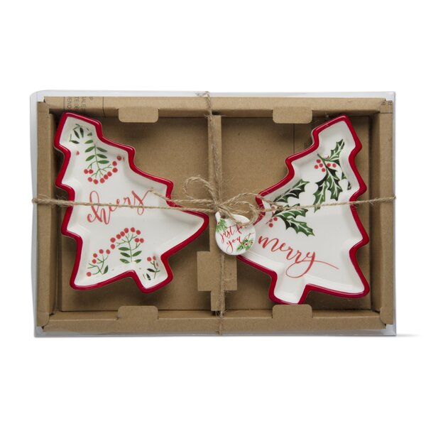 Holly Berry Tree Platter (Set of 2) by TAG