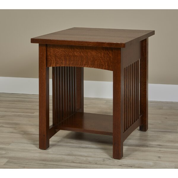 Linnea Solid Wood End Table By Millwood Pines