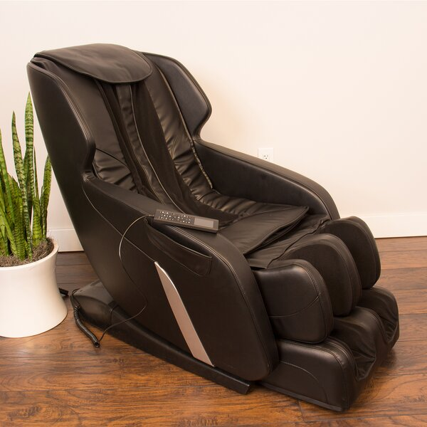 Ultimate Genuine Leather Reclining Adjustable Width Massage Chair By Brayden Studio