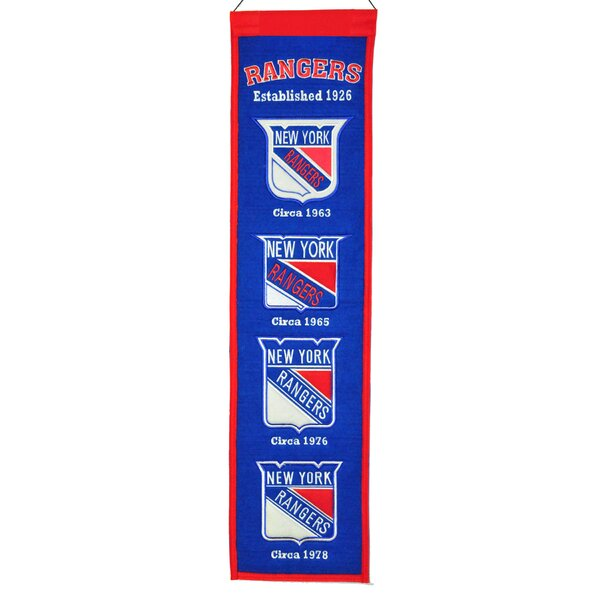 NHL Heritage Banner Wall Décor by Winning Streak