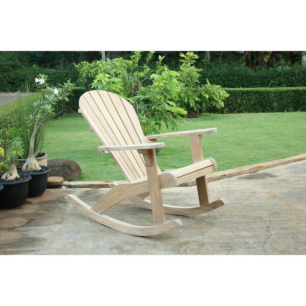 Dewayne Adirondack Teak Rocking Chair (Set of 2) by Highland Dunes