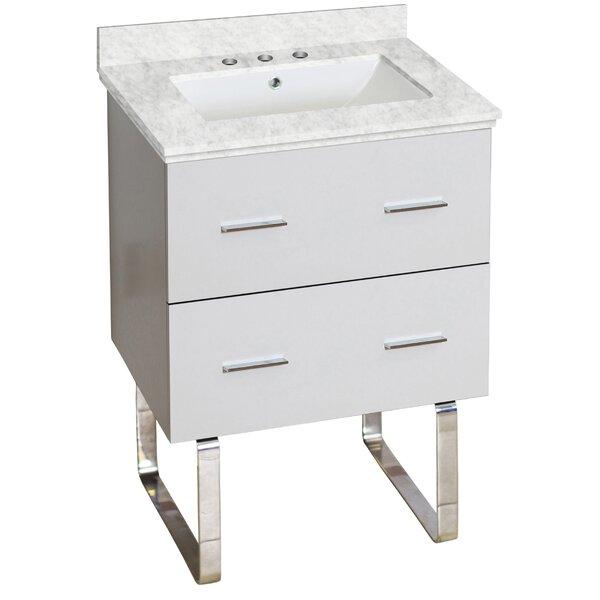 Phoebe Drilling Floor Mount 24 Single Rectangle Bathroom Vanity Set by Orren Ellis