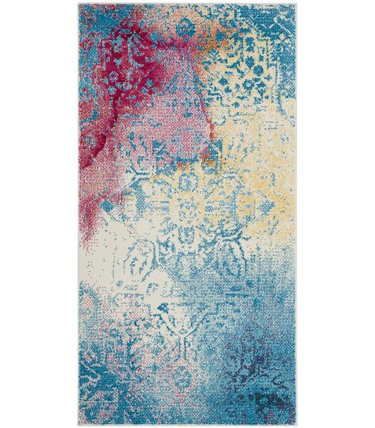 Cienna Blue/Pink Area Rug by Ebern Designs