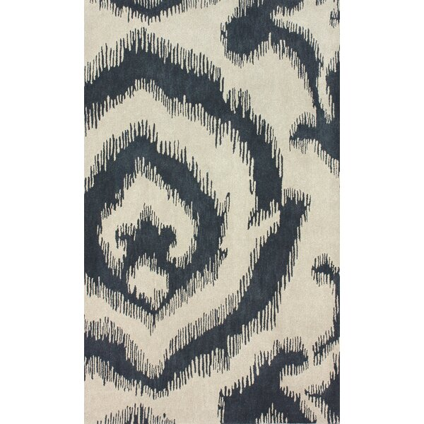 Goodwin Hand-Tufted Wool Cream/Black Area Rug by nuLOOM