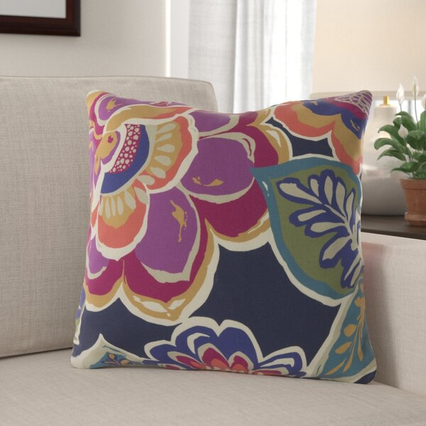 Kaneville Flower Outdoor Throw Pillow by Red Barrel Studio