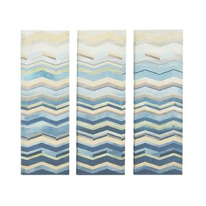 'Exquisite' Graphic Art on Canvas (Set of 3) by Wrought Studio