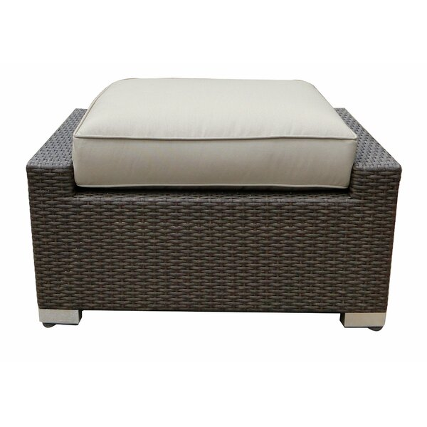 Tampa Ottoman with Cushion by World Wide Wicker