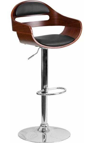 Crotty Low Back Adjustable Height Swivel Bar Stool by George Oliver