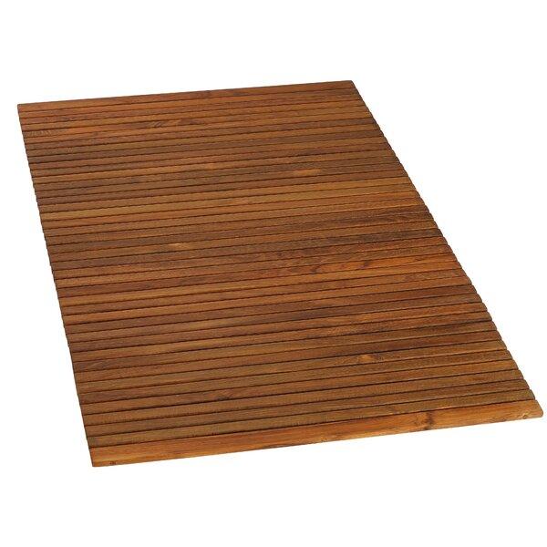 Alexei String Spa Rectangle Teak & Wood Bath Rug