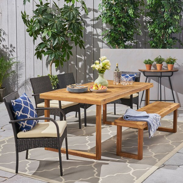 Cobblefield Outdoor 6 Piece Dining Set with Cushions by Brayden Studio