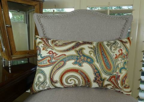 Paisley Cove Double Sided Lumbar Pillow by Plutus Brands