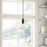 Luminaire suspendu sphérique 1 lumière avec accents de verre Inola